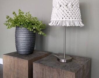 Macrame Lampshade/macrame lamp complete