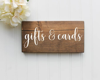 Gifts and Cards Sign| Wedding Gifts sign| Wood Wedding Cards Sign| Rustic Wedding Decor| Wedding Decor| Spring| Summer