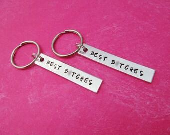 Best Bitches Keychains - Best Friend Gift - Matching Keychain Set - Bridesmaid Keychains