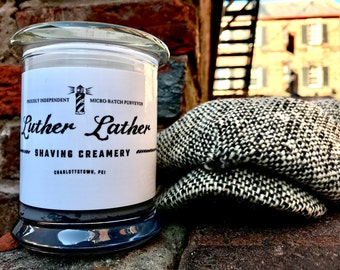 Luxe Artisan Shave Cream: Charcoal