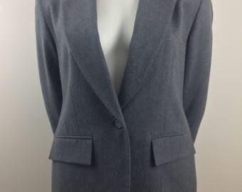 Vintage Pendleton 100% Virgin Wool Gray Blazer/Size 4 Large
