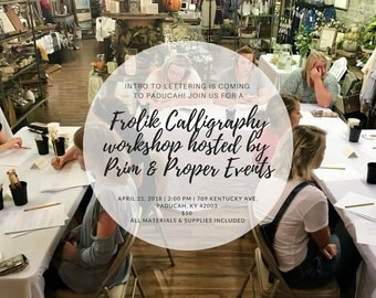 Intro to Lettering Workshop- April 21st// Paducah, KY
