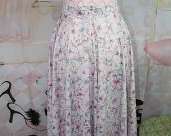 Vintage Handmade Floral Skirt