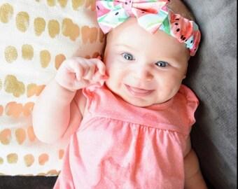 Watermelon Headband- Watermelon Bow; Watermelon Hair Bow; Watermelon Outfit; Toddler Headband; Newborn Headband; Girls Headband; Hair Bows