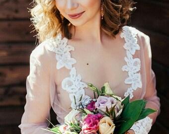 Rose Crystal Bridal Wreath, Pale Dogwood Hair Piece