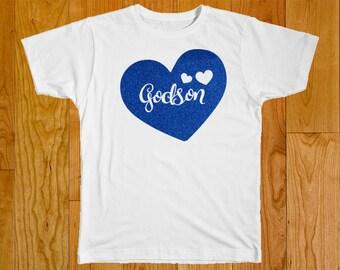 Godson Shirt - Godson Gift - Gift for Godson - Godchild Gift - Baby Shower Gift - Baptism - Godson - Godmother - Godmother Gift - Godson Top