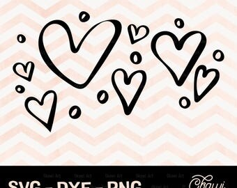 Hearts SVG, Valentine cut files, Valentines Svg, Valentines day SVG, Love SVG, Cricut, svg, dxf, png for Cricut and Silhouette