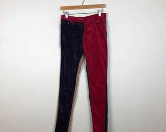 90s Color Block Pants Size 27, Vintage Insight Pants