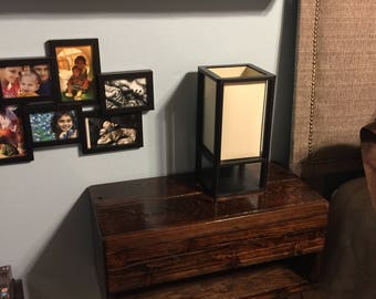 Handmade Cedar Floating Nightstand with Drawer