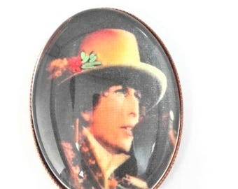 Bob Dylan hand embroidered brooch