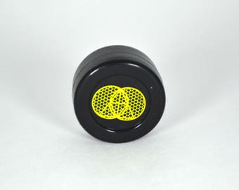 Glitch Mobb,yellow, 38mm Silicone DAB Container-food grade & FDA Approved Silicone 710