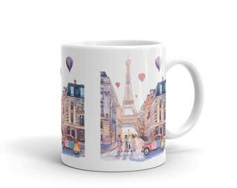 Eiffel Tower and Citroen 2CV in Paris, France Coffee Tea Mug
