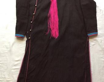 Laos Lenten Tribe Handspun,Indigo Handwoven Jacket