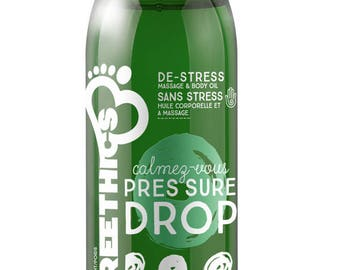 Pressure Drop Massage and Body Oil - Natural and Organic with Hemp Seed Oil - De-Stress 2OZ
