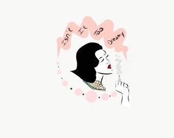 "Audrey Horne Sticker - Twin Peaks ""Isn't it too dreamy?"" Valentine's Day"