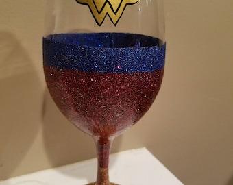 Wonder Woman Wine Glass