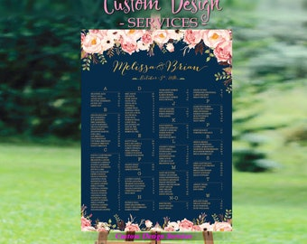 Wedding sign, Wedding seating chart alphabetical, Wedding Seating Chart, Printable Wedding Seating Chart - US_WC0107a
