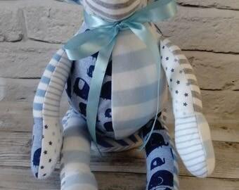 Memory Keepsake Monkey - Baby Clothes, School Uniform, Sports Kit, Christening Gift, birth weight, weighted, cherished clothing
