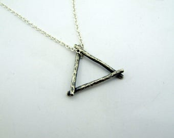 Darkened Fire Alchemy Silver Pendant and Chain