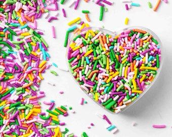 Spring Crunchy Jimmies Mix, Pastel Sprinkles, Easter Sprinkles, Edible Sprinkles, Cake Sprinkles, Fancy Sprinkles