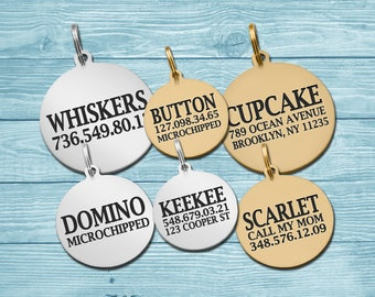 Dog Tag, Personalized Dog Tag, Custom Tag, Personalized Tag, Engraved Tag, Gold Plated, Brass, Steel, Pet ID Tag, Custom Dog Tag, Dog ID Tag