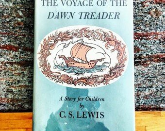 SOLD - FIRST EDITION vintage Chronicles of Narnia series book The Voyage of the Dawn Treader by cs Lewis, third of 7 novels, 1960, 2nd print