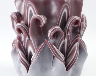 Candle Hand Made Hand Carved Artistic Decorative Candle Choco-Brown Colour