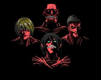 Titan Rhapsody T-shirt / Attack on Titan Tee /  Queen / Anime & Music / Free Shipping worldwide/