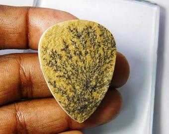Top Rare+ Natural Psilomelane dendrite cabochon gemstone. Dendrite Psilomelane germany loose stone, Dendrite loose gemstone, 59 Cts. R-3485