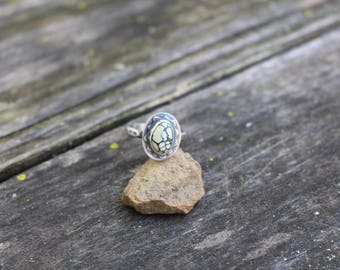 NEW LANDER RING, New Lander Turquoise, Handmade, Sterling Silver, Size 8.5, Ready To Ship!