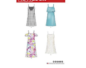 New Look 6499 - Misses' Spaghetti Strap Dresses with Length Variations