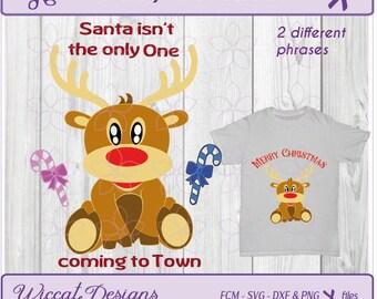 Reindeer svg, Baby reindeer svg, rudolph svg, Christmas svg, baby svg, kids svg, pregnant svg, dxf cut file, scanncut, svg for cricut