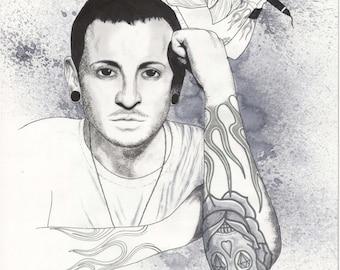 Chester Bennington (Linkin Park) Homage Illustration 2017