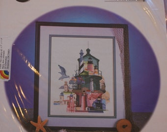 Cross Stitch Pattern - Lighthouses of America - Leaflet - 1996 - FHF 003