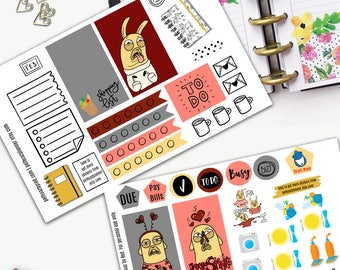 Llama Drama Anti Valentine Theme Planner Weekly Sticker SMALL Kit, CLASSIC Happy Planner Sticker, Weekly Set, Stickers, Printed, Cut, Sucks