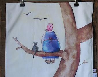 Napkin / 100% cotton / cotton mix / illustration original watercolor