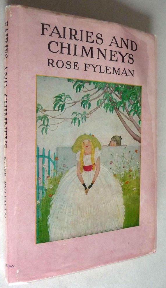 Fairies and Chimneys 1920 by Rose Fyleman - Hardcover HC w/ Dust Jacket DJ - Poetry Poems Verse