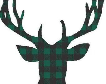 Buffalo Plaid Deer Transfer 3
