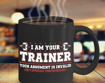 Personal Trainer Coffee Mug - Fitness Coach Mug - Gift for Exercise Fanatic - CrossFit Coffee Mug - Weightlifting Coffee Mug - Gift CrossFit