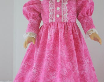 Pink princess nightgown, fancy nightgown, AG fancy nightgown, Fits 18 inch American