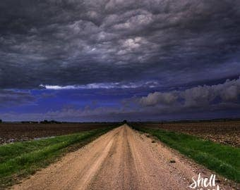 "Midwest Storm- 30""x30"" canvas gallery wrap print, wall art, home decor"