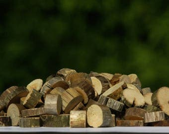 1000+ Small Wood No Bark Slices, Tree Slice Assortment, Various Tree Circles, Branch rounds, Rustic Wood Bargain, Bulk Floristry supply