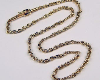 Handcrafted 18k yellow gold chain necklace #10150