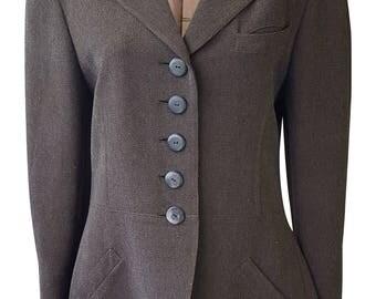 KRIZIA Brown Wool Blend Blazer (IT 42)