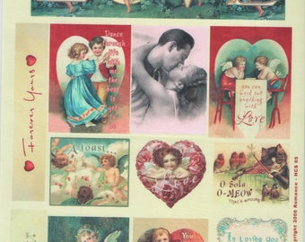 Love Romance Vintage Style Cotton Scraps Scrapbooking Scrapbooks Embellishments Cardmaking Crafts Crafty Secrets