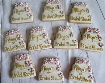 bridal shower cookie favours