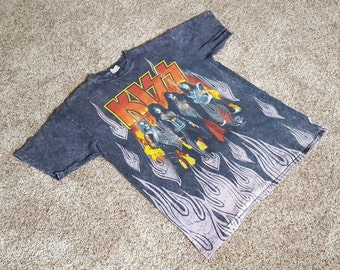 RARE!!! Vintage 90s KISS Concert Band T Shirt by Changes