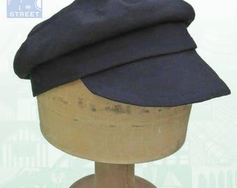 Black cotton Tevye cap fisherman cap Fiddler on the Roof hat Russian cap