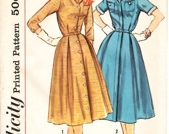 Womens Vintage 50s Shirt Dress Pattern