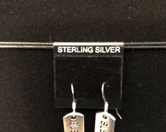 Silver colored Blessed Earrings